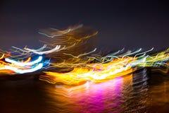 Abstrakt bakgrund av ljus rörelse i floden royaltyfri foto