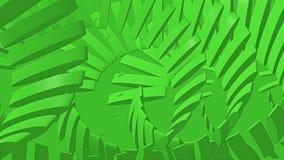 Abstrakt bakgrund av rörande objekt i grön färg vektor illustrationer