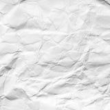 Abstrakt bakgrund av skrynklig vitbok Arkivbild