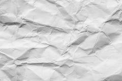 Abstrakt bakgrund av skrynklig vitbok Arkivbilder