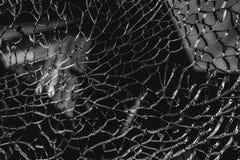 Abstrakt bakgrund av sprucket och brutet exponeringsglas Royaltyfri Foto