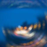 Abstrakt bakgrund av stadsnattljus Royaltyfria Bilder