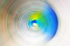 Abstrakt bakgrund av suddighet för rörelse för snurrandecirkel radiell Royaltyfria Bilder