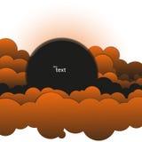 Abstrakt bakgrund av svart-och-apelsin moln Arkivbilder