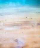 Abstrakt bakgrund av turkosexponeringsglas över trä Arkivbild