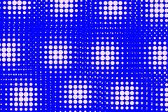 Abstrakt bakgrund av vit- och blåttprickar Royaltyfri Foto