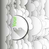 Abstrakt bakgrund av vita moln Arkivfoton