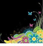 abstrakt bakgrund blommar illustrationvektorn Royaltyfri Fotografi