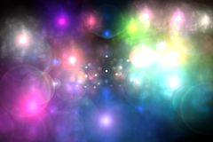 abstrakt bakgrund blossar lampa Royaltyfri Foto
