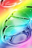 abstrakt bakgrund bubbles färg Royaltyfri Foto