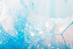 abstrakt bakgrund bubbles makrotvål Arkivfoto