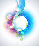 abstrakt bakgrund bubbles vektorn Royaltyfri Bild