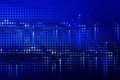 Abstrakt bakgrund buktar diagram blått Royaltyfri Foto