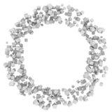 Abstrakt bakgrund: cirkel av vita askar Fotografering för Bildbyråer