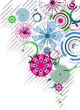 abstrakt bakgrund cirklar den multicolor vektorn Royaltyfri Bild