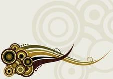 abstrakt bakgrund cirklar färgrika waves Royaltyfria Bilder