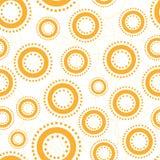 abstrakt bakgrund cirklar gulligt seamless Royaltyfria Bilder