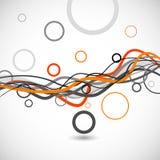 abstrakt bakgrund cirklar linjer royaltyfri illustrationer