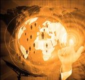 abstrakt bakgrund clusters den mångfärgade nätverkssamkvämvektorn Internettelekommunikationbegrepp Royaltyfri Foto