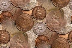 abstrakt bakgrund coins tappning Fotografering för Bildbyråer
