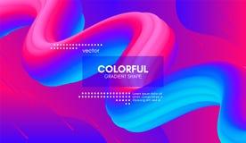 abstrakt bakgrund 3d Färgrik våg fluid Shape vektor illustrationer
