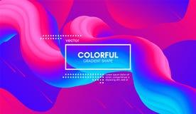 abstrakt bakgrund 3d Färgrik våg fluid Shape stock illustrationer