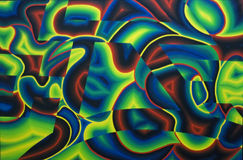 Abstrakt bakgrund - detalj av målarfärg av André Cadere Royaltyfria Foton