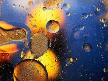 Abstrakt bakgrund - droppar, ovals, cirklar Fotografering för Bildbyråer
