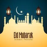 Abstrakt bakgrund Eid Mubarak för religiös festival vektor illustrationer