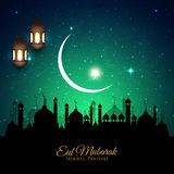 Abstrakt bakgrund Eid Mubarak f?r religi?s festival royaltyfri illustrationer