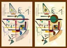 Abstrakt bakgrund, expressionismkonststil, ställde in 2 färgvarianter 18-57 Royaltyfri Bild