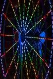 Abstrakt bakgrund: Färgrik eker av en Ferris Wheel Royaltyfria Foton