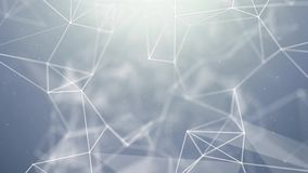 Abstrakt bakgrund för ögla för vetenskap för teknologi för nätverk för blinkatriangelplexus vektor illustrationer