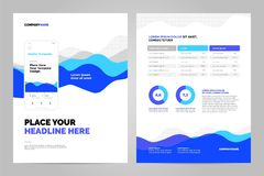 Abstrakt bakgrund för affärsdokument vektor illustrationer