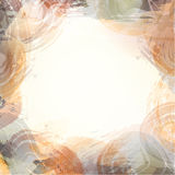 Abstrakt bakgrund för Aquarelle Blå abstrakt cirkel på den vita bakgrunden Arkivbild