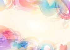 Abstrakt bakgrund för Aquarelle Blå abstrakt cirkel på den vita bakgrunden Arkivfoto