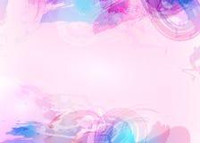 Abstrakt bakgrund för Aquarelle Blå abstrakt cirkel på den vita bakgrunden Arkivfoton