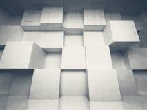 Abstrakt bakgrund för arkitektur 3d med kuber stock illustrationer