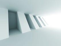 Abstrakt bakgrund för arkitektur för korridorinredesign Arkivfoto