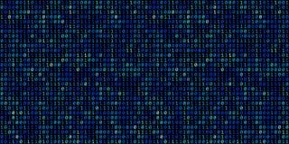 Abstrakt bakgrund för binär kod för teknologi Digital binära data a vektor illustrationer
