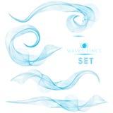 Abstrakt bakgrund för blåa massiva blandningvågor för den högvärdiga designen Royaltyfria Bilder