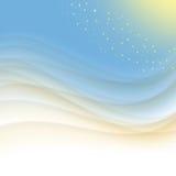 Abstrakt bakgrund för blått och för guling Arkivfoto