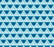 Abstrakt bakgrund för blått som 3d göras av (sömlösa) förbindelsetrianglar, Arkivbild