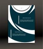 Abstrakt bakgrund för broschyren, räkning Mall för affischen vektor Royaltyfria Bilder