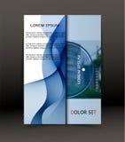 Abstrakt bakgrund för broschyren, räkning Mall för affischen vektor Arkivbild