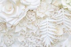 Abstrakt bakgrund för design för vitbokblomma Royaltyfri Fotografi
