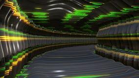 Abstrakt bakgrund för Digital 3D tunnel royaltyfri illustrationer