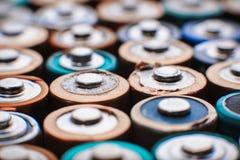 Abstrakt bakgrund för energi av färgrika batterier Royaltyfri Bild