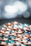 Abstrakt bakgrund för energi av färgrika batterier Fotografering för Bildbyråer