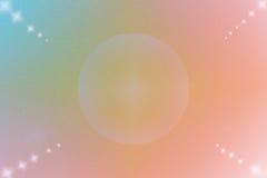 Abstrakt bakgrund för färg med cirkeln och stjärnan Royaltyfria Bilder
